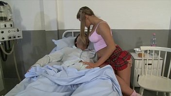 Hospital blow job She takes care of her boyfriend in the hospital with a blow job