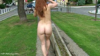 Naked la - Hot redhead denisa naked on public streets