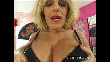 Milf moma - Granny with a boob job gets fucked