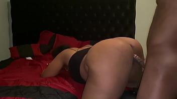 Ebony milf takes a anal pounding