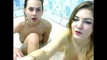 Lesbos in bathtub Lesbian couple fucking in the bathtub- find them at: bosomload.com