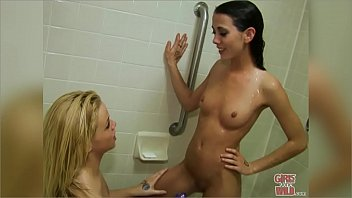 GIRLS GONE WILD - Young Lesbians In The Hotel Tub, Getting Acquainted