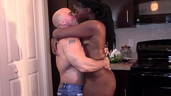 Black Beauty with a big booty grinding dick till orgasm (Interracial)
