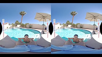 Naughty America - Glorious day to fuck Jewelz Blu by the pool in VR