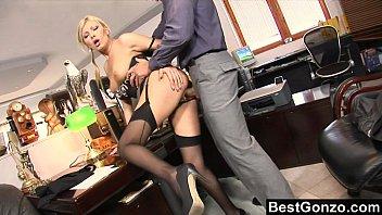 Naughty secretary horny at work
