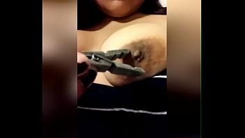 First time nipple play latina
