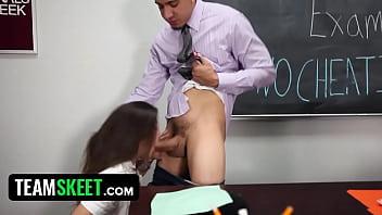Students come onto teachers tits - Innocenthigh - schoolgirl natalie monroe fucks her teacher