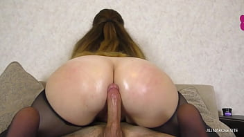 Teen Step Sister AssJob And PussyJob In Pantyhose