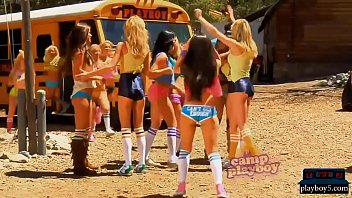 Camp of young and big titted playboy bunnies screaming teen big-tits camp