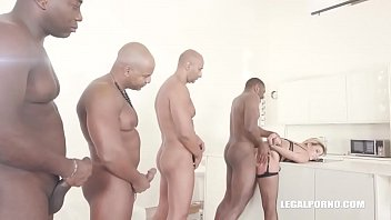 Clementine Marceau comes to get black cock, double anal & hard fucking
