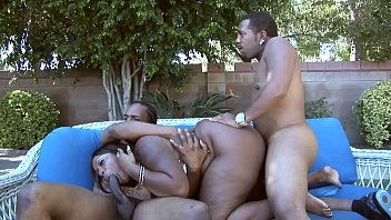 Black girl gangbang Ebony bbw sky black gets fucked by two bbcs