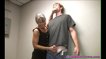 Mature amateur working on cock POV style