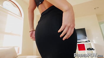 Anal reverse cowgirl Candice Dare shows her big round ass