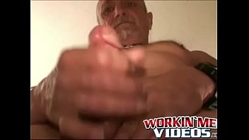 Massive mature gay cock Old man tries anal play while jerking off his massive dick