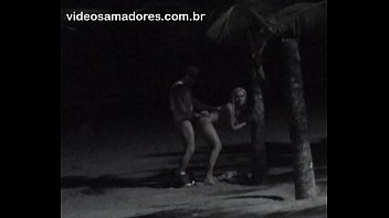 Man is caught fucking dirty blonde pussy on the beach