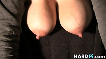 Milking lactation fetish Babe plays with her lactating big tits
