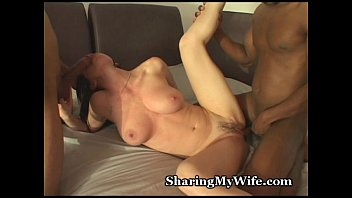 Amature wife swapping free videos Hubby shares hot wife with black guys