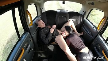 Amazing brunette tells the driver about her selfish lover
