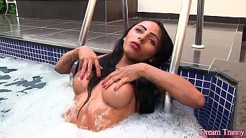 Latina Shemale Adrielhy Bronze Has Her Stiff Cock Sucked by Her Boyfriend