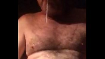 Stroking my fat hairy cock for horny little sister