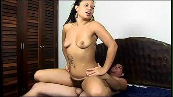 White stud becomes very horny when he sees scrubbing brush of ebony tootsie-wootsie Aline Teodoro