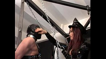 faceslap and spit by latex mistress