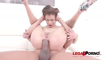 Petite Polly Petrova Vs two monster cocks (DP and DVP) SZ2177