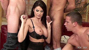 Against marriage same sex Beautiful brunette against three hard and big cocks
