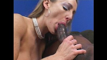 Smoking hot big tits brunette fucked hard by a black dick