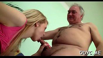 Teen blonde Violetta's nana stretched wide