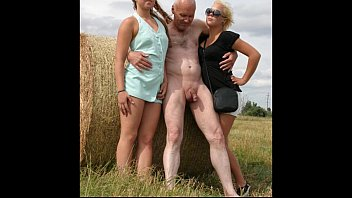 Slideshow: Grandpa Ulf Larsen With Two Teen Whores In Public Park And Beach