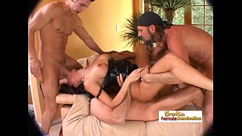 Erotic rough Long-legged latex slut rammed by a group of horny studs