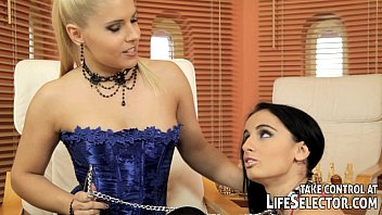 Male pet sex - Hot blonde domina shows off with her new pet