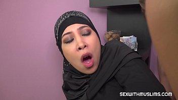 Hot muslim babe gets fucked hard