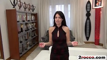 Beautiful petite brunette fly to Budapest for Rocco's big cock POV