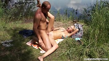Busty teen babe gets pounded outdoors preview image