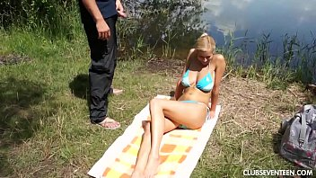 Blonde busty outdoors - Busty teen babe gets pounded outdoors