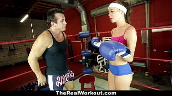 Xxx the sport - Therealworkout - horny brunette fucked in the gym