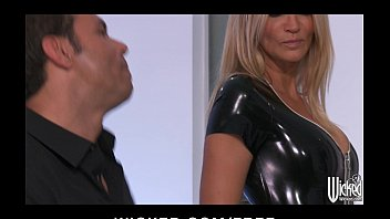 Latex and spinal cord injury Jessica drake strips out of her latex outfit before anal