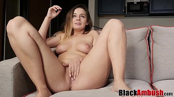 Busty young Olivia fucks 1st BBC monster after sucking it