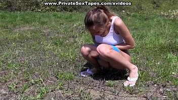 Real peple sex tape - Horny couple fucking on picnic