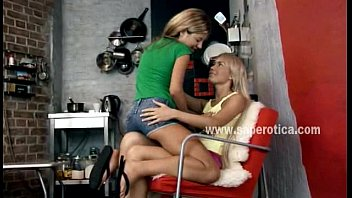 Blonde lesbian beautie waitting unpatiently for her slender lover to please her