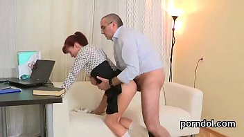 Kissable schoolgirl gets seduced and penetrated by her older tutor