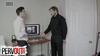 LANCE HART CATCHES ALEX ADAMS JERKING AT WORK