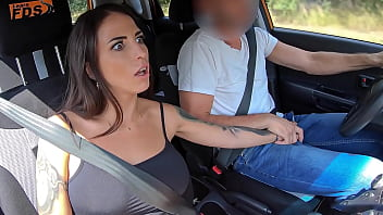 '...And This Is The Gear Stick...' - Busty Latina Student Fucked By Her Teacher In The Car