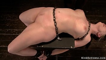Chained in back arch slave gets waxed