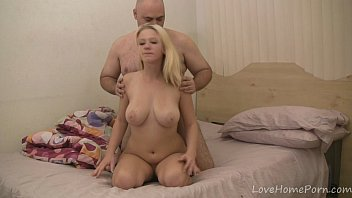 Older Feller Playng Around With Her Tits