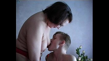 Mature woman  with young boy