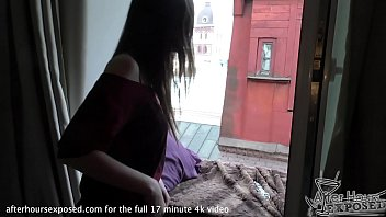 rebeka masturbating then letting me finger her to orgasm in my bedroom window