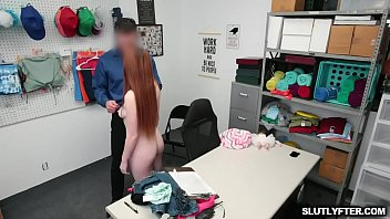 Officer Mike and suspect Aria bang each other   in the office